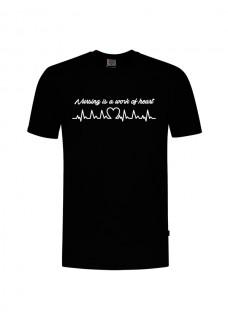 T-Shirt Work of Heart Schwarz