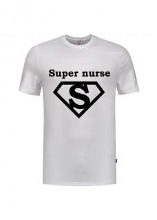 T-Shirt Super Nurse 1 Weiß