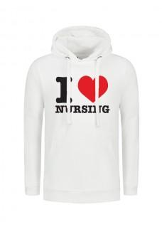 Hoodie I Love Nursing Weiß
