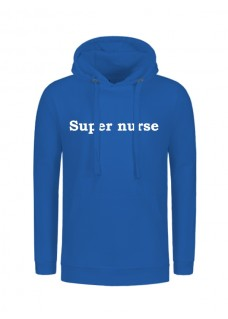 Hoodie Super Nurse Blau