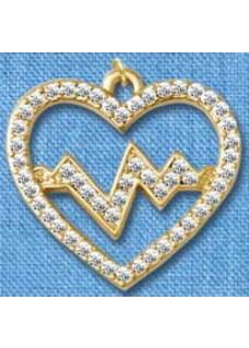 Kette Herzschlag Gold groß
