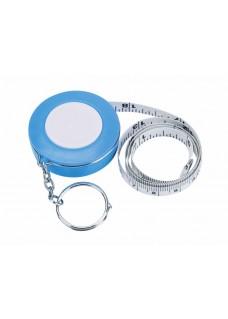Schlüsselanhänger Maßband Blau