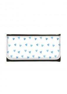 Brieftasche Blaue Herzen