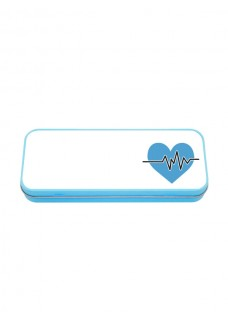 Multifunktionales Metalletui Blau EKG Blau