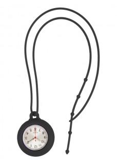 Silikon Schlüsselband Uhr Schwarz