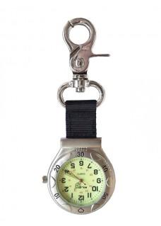 Karabiner Uhr NOC457 Silber