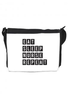 Schultertasche Gross Eat Sleep Nurse Repeat