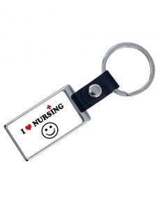 Luxuriöser Schlüsselanhänger Love Nursing mit Namensaufdruck