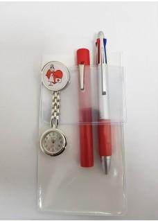 Taschenschutz A6 Weiß + Zubehör Rot