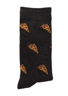 Happy Damensocken Pizza