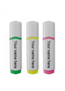 Neon Textmarker 3 Stück Medizinische Symbole Rosa