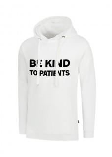 Hoodie Be Kind To Patients Weiß