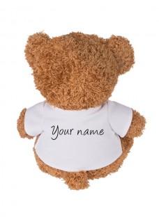 Teddybär Love Nursing mit Namensaufdruck