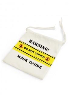 Leinenbeutel für Mundschutz Do Not Touch