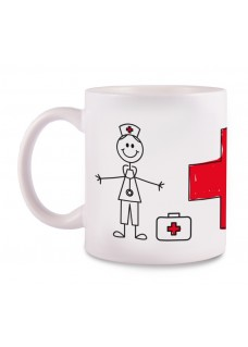 Tasse Stick Nurse Cross
