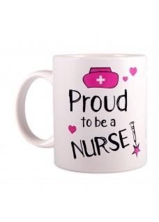 Tasse Proud to be a Nurse 2 Weiß