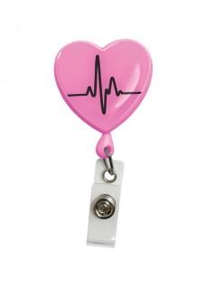 Ausweis Jojo Herz EKG Rosa