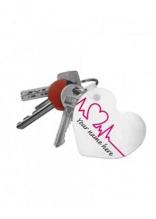 Schlüsselanhänger Herz Beautiful Day mit Namensaufdruck