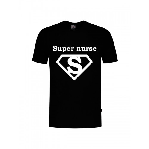 T-Shirt Super Nurse 1 Schwarz
