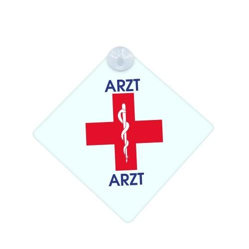 Autoschild Rotes Kreuz Arzt