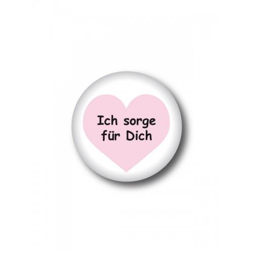 Button Ich sorge für Dich