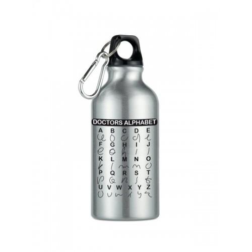 Sport-Trinkflasche  Doctors Alphabet Silber