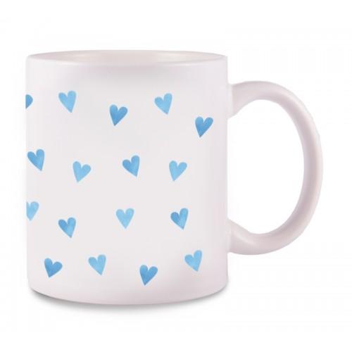 Tasse Blaue Herzen