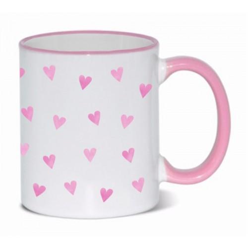Tasse Rosa Herzen Rosa