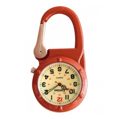 Karabiner Uhr NOC471 Luminös Orange