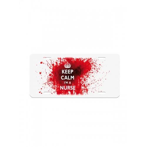Deko-Nummernschild Keep Calm Nurse