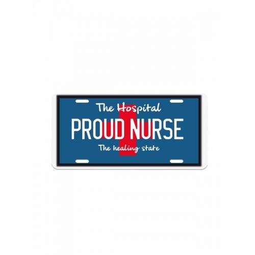 Deko-Nummernschild Proud Nurse